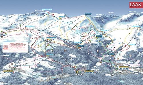 FlimsLaax Skiing area Skigebiet Flims Lax Falera Ski map of