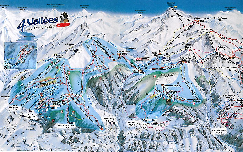 Nendaz Skiing area Skiregion Les 4 Valles Verbier Nendaz